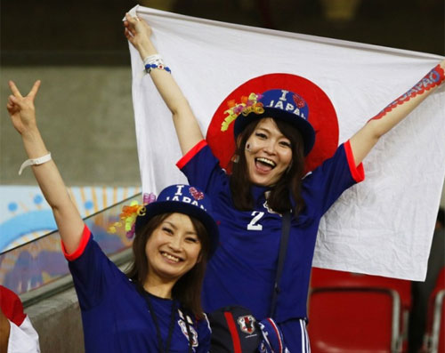 World Cup 2014 - Japan fans - Oh yeah