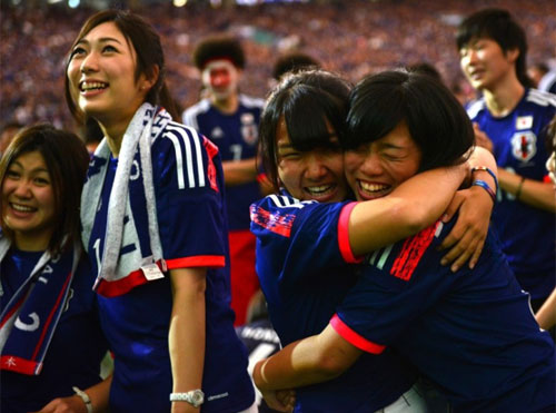 World Cup 2014 - Japan fans - Happy moment