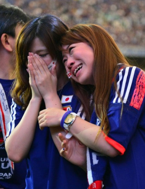 World Cup 2014 - Japan fans - Crying