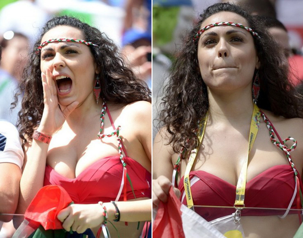 World Cup 2014 - Italy fans - Sexy female fan 03