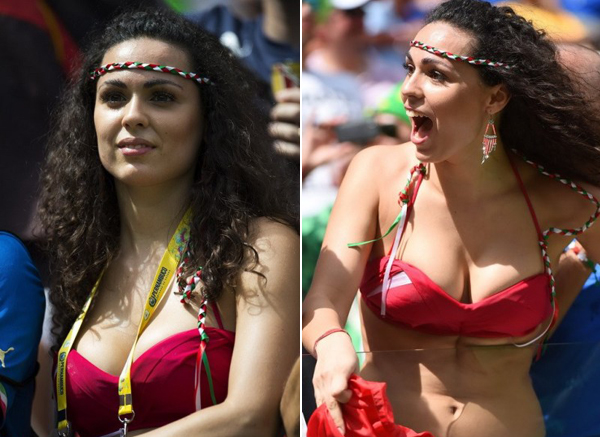 World Cup 2014 - Italy fans - Sexy female fan 06