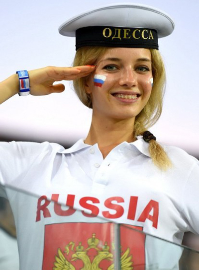 World Cup 2014 - Russia fans - Beautiful girl