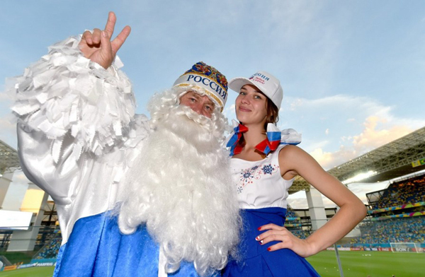 World Cup 2014 - Russia fans - Santa Claus