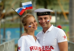 Sport Wallpaper - World Cup 2014 - Russia fans - Lovely couple