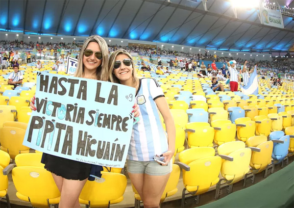 World Cup 2014 - Argentina fans - Higuain female fans