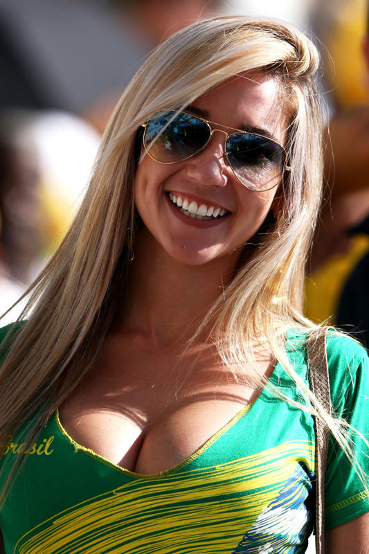 World Cup 2014 - Brazil fans - Sexy and beautiful girl