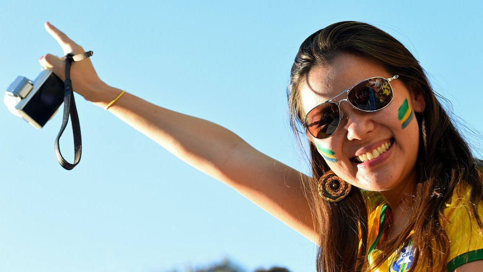 World Cup 2014 - Brazil fans - beautiful smile