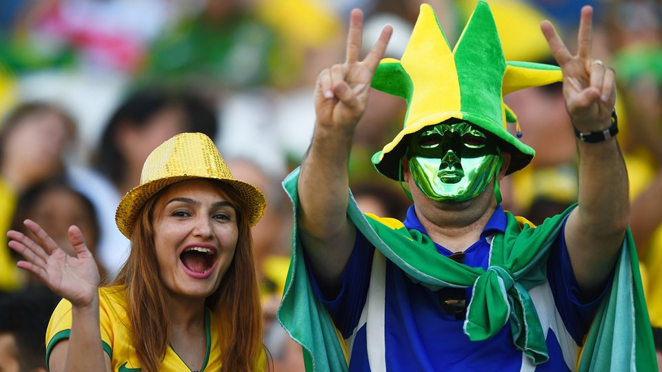 World Cup 2014 - Brazil fans - Victory