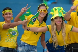Sport Wallpaper - World Cup 2014 - Brazil fans - Cheer together