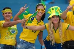 Sport Wallpaper - World Cup 2014 - Brazil fans - Cheer together