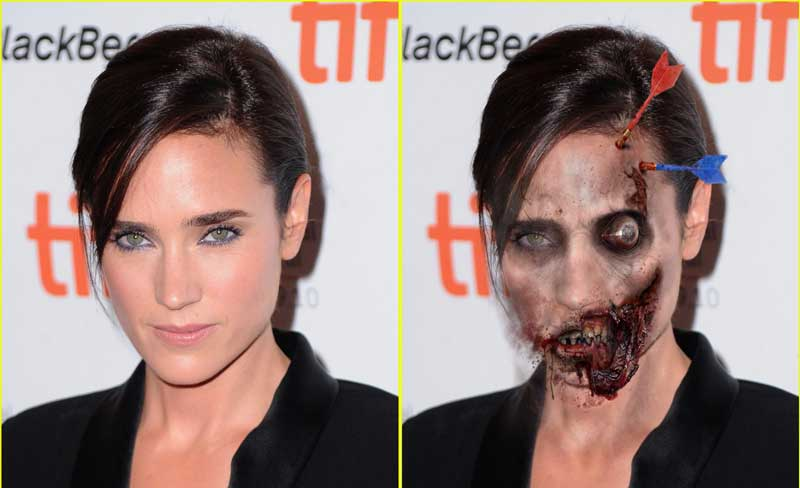 Jennifer Connelly in Halloween day