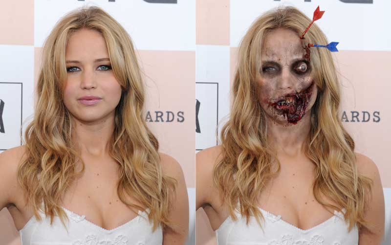 Jennifer Lawrence in Walking Dead