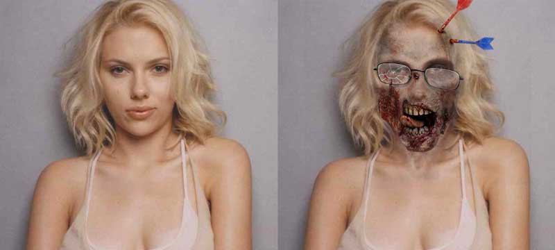 Scarlett Johansson in Walking Dead