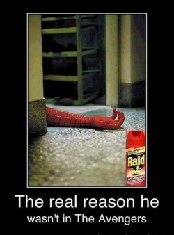 Funny photos - The real reason he wasn't in The Avenger