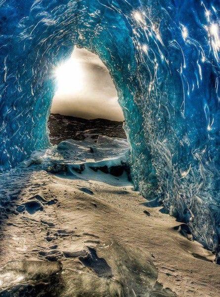 glacier cave, alaska