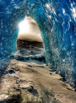Nature Wallpaper - glacier cave, alaska