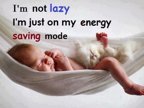 I am not lazy