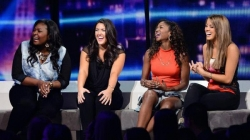 American Idol photos - The top 4 give their best impressions of the 4 idol judges.