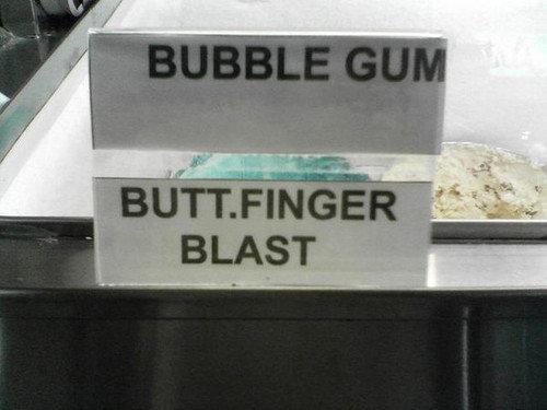buttfinger