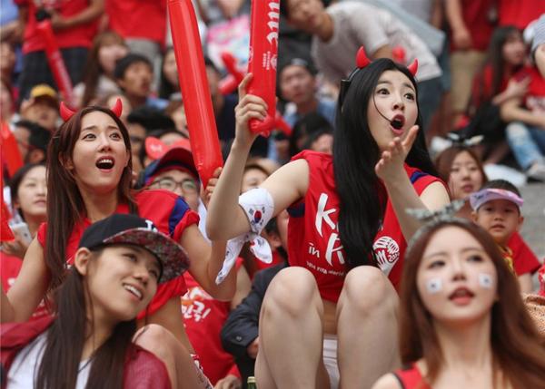World Cup 2014 - Korea fans - Emotion