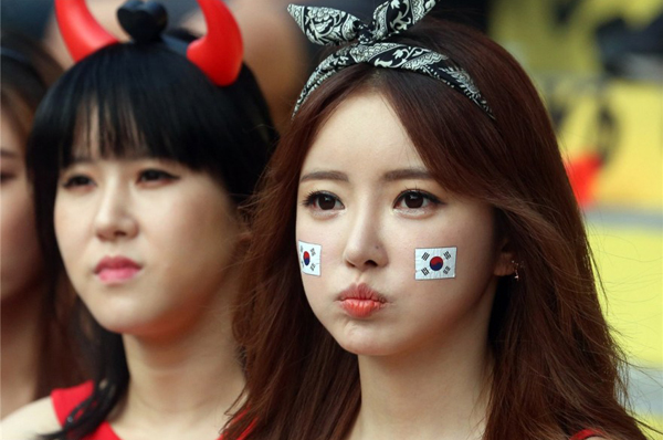 World Cup 2014 - Korea fans - Cute girls
