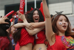 Sport Wallpaper - World Cup 2014 - Korea fans - Excited 2