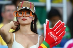 Sport Wallpaper - World Cup 2014 - Korea fans - Sexy girl