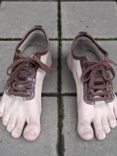 Funny Wallpaper - Foot Shoes