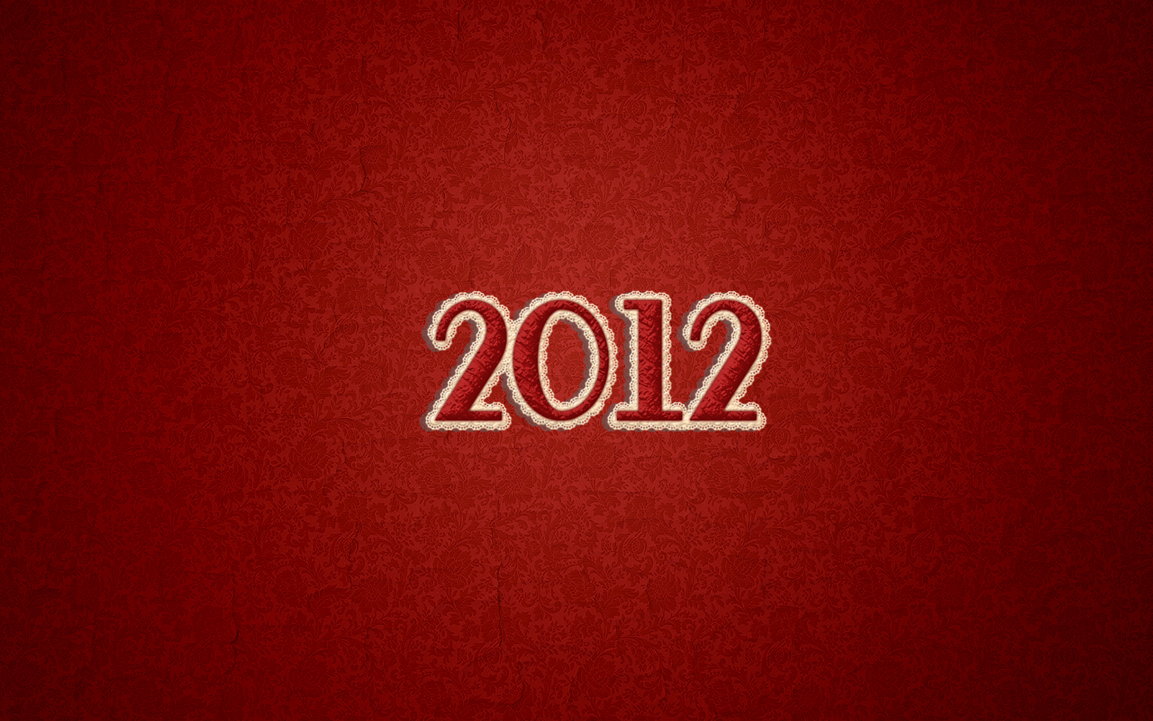 2012 Red Pattern Wallpaper