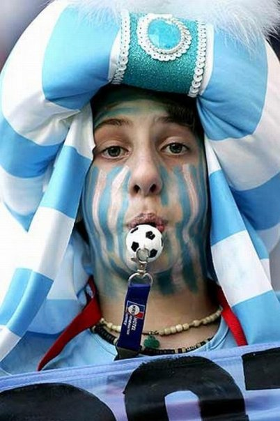 World Cup 2010: Argentina monk