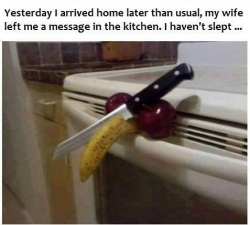 Funny photos - The wife's message
