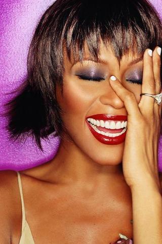 Whitney Houston wallpaper for IPhone 4S