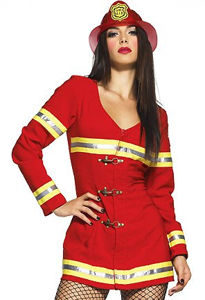 Red Hot Firefighter Sexy Costume for halloween