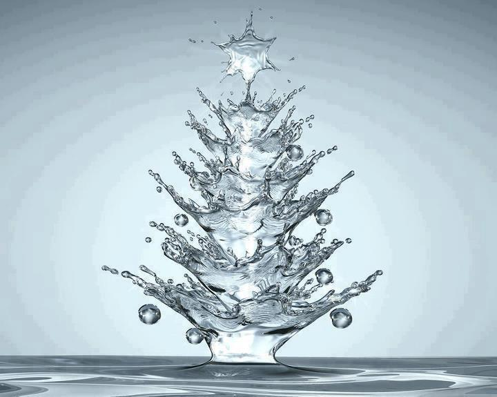 Water christmas tree