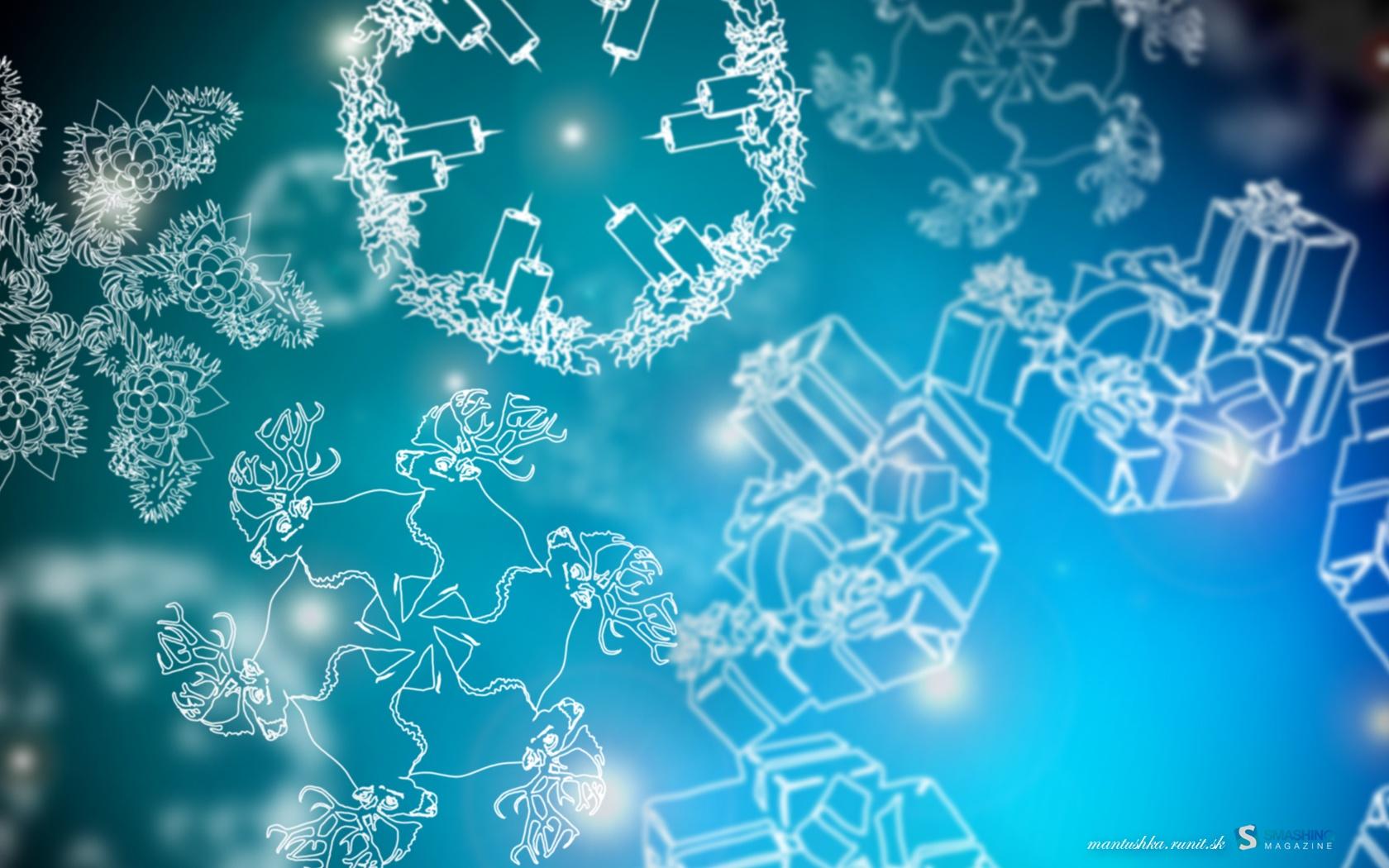 Christmas snowflakes-1680x1050