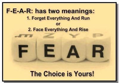 Fear mean