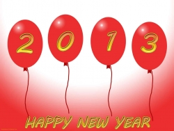 Art Wallpaper - HD happy new year 2013 with ball