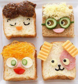 Funny photos - Face bread