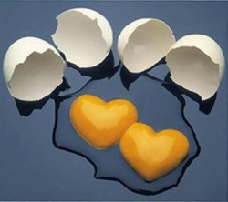 Miscellaneous pictures - Heart Eggs