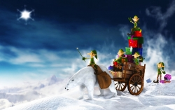 Christmas Wallpaper - Christmas elfs gifts