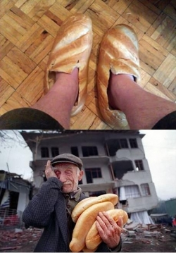 Funny photos - Bread shoes