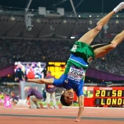 Sportsmen photo - victory