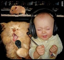 Funny photos - Sing with me