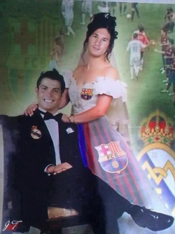Funny photos - Ronaldo and his wife