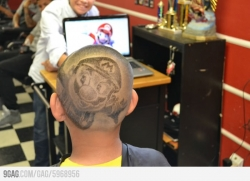 Funny photos - Awesome Mario Haircut
