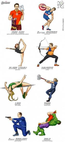 Funny Wallpaper - Olympics 2012 : Avengers