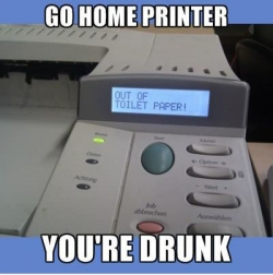 Funny photos - Go home printer