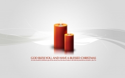 Christmas Wallpaper - God bless you christmas candles