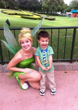 Funny photos - He is so happy to meet Tinker Bell!