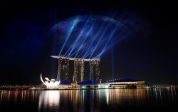 Photograph Wallpaper - Marina bay sands singapore